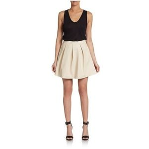 French Connection Albany Perforated Skater Skirt 6